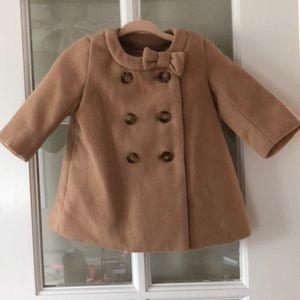 Baby Gap tan pea coat, size 0-6 months